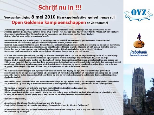1e Open Gelderse Kampioenschap Te Zaltbommel
