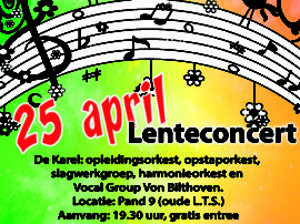 25 April 2015 – Verenigingsconcert