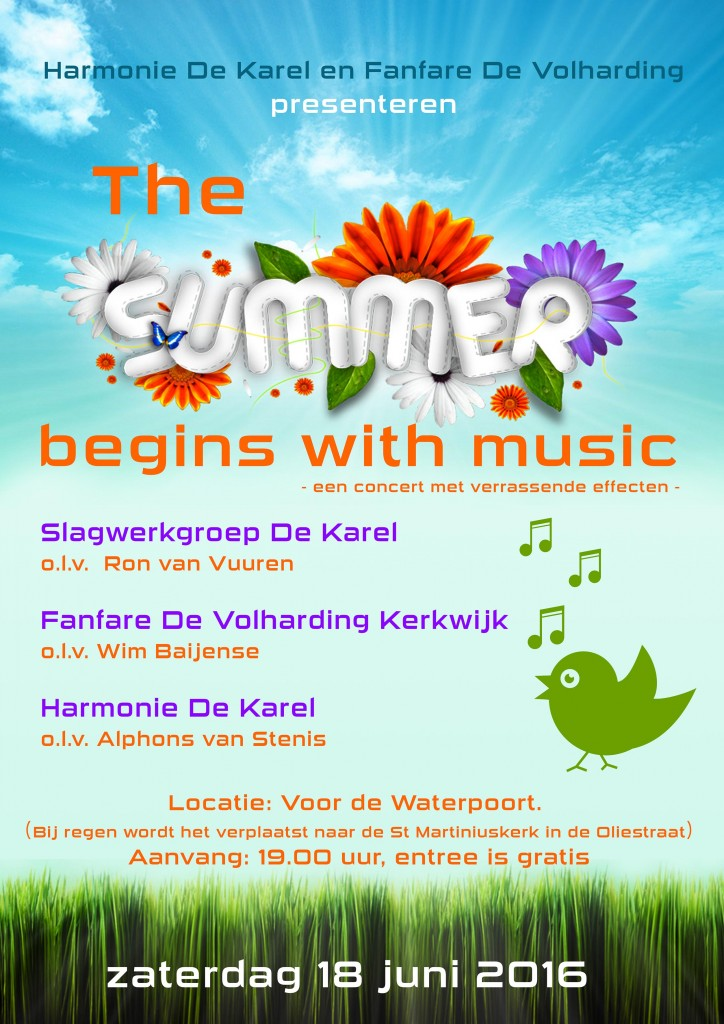 poster zomerconcert