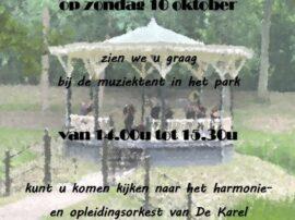 Optreden 10 Oktober In De Muziektent